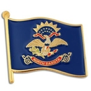 Custom North Dakota State Flag Pin