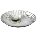 Custom Elegance Stainless Steel Collection Round Serve & Dip Tray, 13