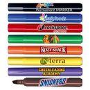 Custom Chisel Tip Broadline Permanent Marker w/ Full Color Decal.