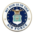 Custom Military - My Son Is In U.S. Air Force Pin, 1