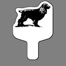 Custom Hand Held Fan W/ Field Spaniel Dog, 7 1/2