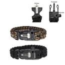 Custom Paracord Survival Bracelet W/ Whistle And Fire Starter, 9