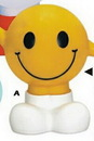 Custom Yellow Rubber Smiley Face Bank w/ Arms & Legs