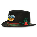 Caroler Hats w/ Plaid Bands & Holly Berry Accents w/ a Custom Shaped Heat Transfer