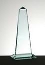 Custom Tower Obelisk Award w/ Base - Jade Glass (12 3/4