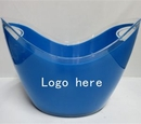 Custom 3.5 L Plastic Ice Bucket, 10 1/2
