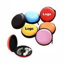 Custom Round Ear Buds Storage Case Earphone Box Headset Bag, 3 3/20
