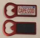 Custom Aluminum Bottle Opener Magnet - Red, 2 3/4