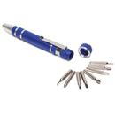 Custom Fix-it 8 Bit Metal Pen Style Tool Kit w/ Clip (4 1/4