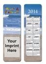 Custom Stock Full Color Digital Printed Bookmark - Travel & Calendar