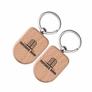 Custom Wooden Keychain, 2 1/4