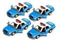 Custom Blue Police Car Metal Replica