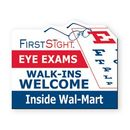 Custom 20 Mil Thick Rectangle with Eye Exam Stock Magnet