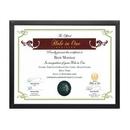 Custom Acacia Certificate Holder - Black 81/4