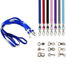 Custom 3/4'' Polyester Lanyard With Metal Clip
