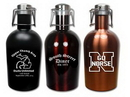 Custom Colored Stainless Steel 64 Oz. Growler