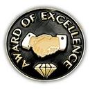 Custom Award Of Excellence Pin, 3/4