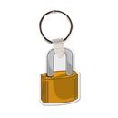 Custom Padlock Key Tag (Single Color)