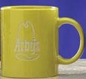 Custom 11 Oz. Yellow C Handle Ceramic Mug