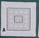 Square Coaster Napkin w/ Green Shamrocks - 6