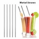 Custom Straight Metal Straws, 10.5 Inch Length, 0.25 Inch Diameter, 266*6 MM, 0.25