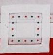Christmas Swiss Dot Coaster Napkin - 6