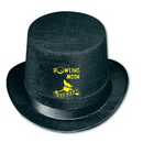 Vel Felt Top Hat w/ Custom Direct Screen Print