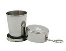 Custom Stainless Steel Travel Folding Collapsible Cups - 2.6 Oz, 2.1875