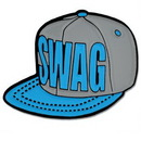 Custom Swag Snapback Hat Pin, 3/4