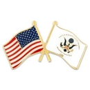 Custom U.S. And Coast Guard Flag Pin, 1 1/8