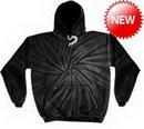 Custom Spider Black Tye Dye Pullover Hoodie
