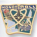 Blank Etched Enameled School Pin (Honor Roll)