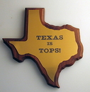 Custom Fabulous State of Mississippi Solid Walnut Plaque. Brushed Gold Acrylic. En, 9.5