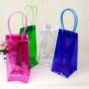 Custom Collapsible Wine PVC Clear Bag, 4 3/8