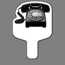 Custom Hand Held Fan W/ Full Color Retro Rotary Desk Phone, 7 1/2