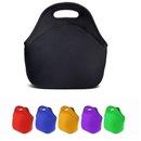 Custom Zippered neoprene lunch bag, 10 3/4