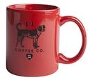Custom 11 Oz., Vitrified C-Handle Mug (Red)