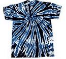 Blank Navy Blue Twist Tye Dye T-Shirt