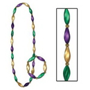 Custom Mardi Gras Satin Swirl Beads/ Bracelet Set