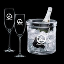 Custom WGG! Spencer Champagne Bucket & 2 Flutes
