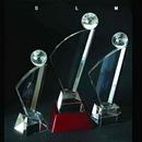Custom Crystal Sail Globe Trophy (Sand blasting), 11