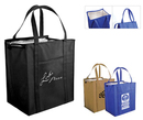 Custom Non Woven Large Insulated Tote Bag w/ Zipper - Spot Printed (13