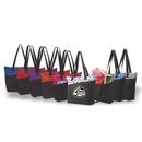 Custom Designer Zipper Tote, Grocery Tote Bag, Shopping Tote, Resusable Grocery Bag, 18