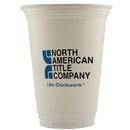 Custom 16 Oz. Economy White Plastic Cup