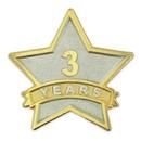 Custom Year Of Service Star Pin - 3 Year, 7/8