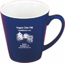 Custom 12 oz. Funnel Mug Matte Color with White Gloss Inside, 3 5/8