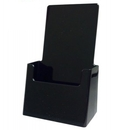 Custom Black Wall/ Counter Tri Fold Brochure Holder, 4 5/16