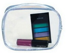Custom Simple Clear Pouch W/ Colored Zipper, 5 1/2