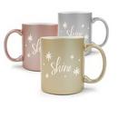 Custom 11 Oz. Metallic Ceramic Creative Mug, 4.75