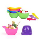 Custom Plastic Hat-shaped Ice -cream Bowl Spoon Set, 5 1/10